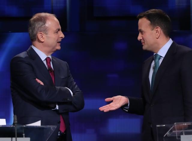 Fianna Fail leader Micheal Martin and, Fine Gael leader Leo Varadkar (Niall Carson/PA)