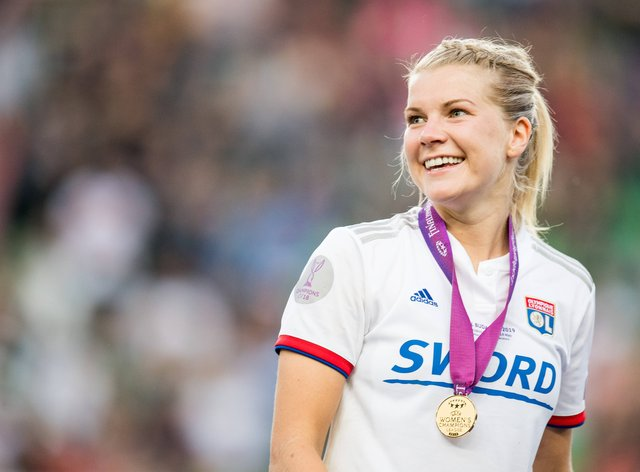 Ada Hegerberg won the Women's Champions League with Lyon last season