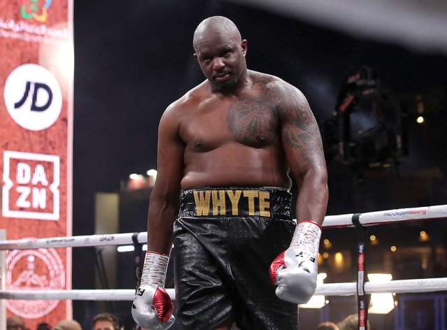 Whyte has been number one in the WBC's rankings for more than 1000 days