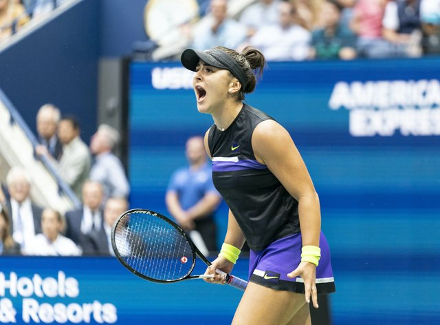 The Canadian won her first Grand Slam title at the US Open in 2019