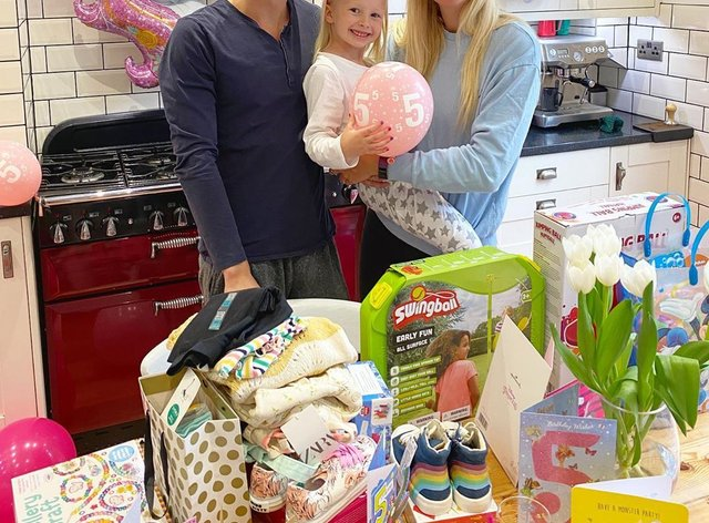 Harry Needs and Rebecca Adlington with their daughter Summer