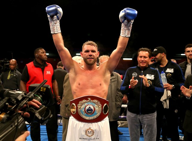 Saunders is the current WBO world super-middleweight champion