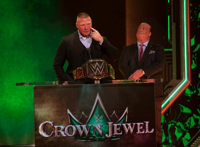Lesnar has been accused of exposing himself to Runnels