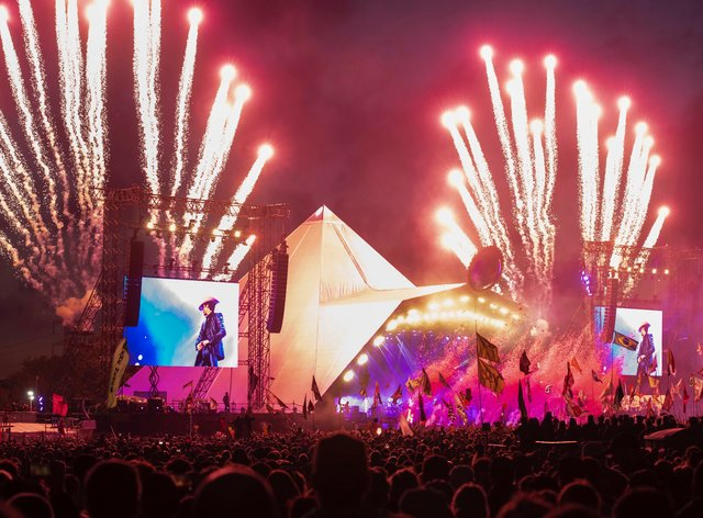 The iconic Pyramid Stage has played host to 50 years of iconic headline sets on Worthy Farm