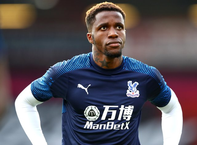 Wilfried Zaha is a doubt for Crystal Palace