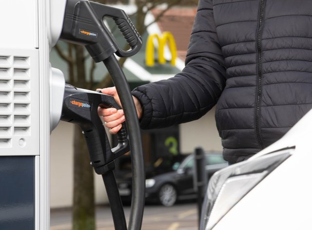 A charging point is on the menu for McDonald's drive-thrus