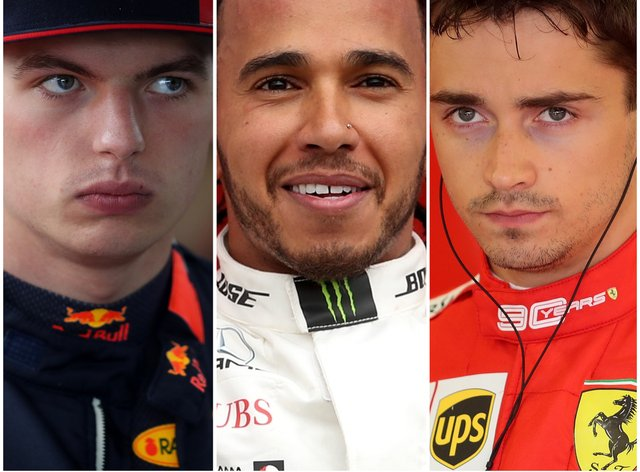Max Verstappen, Lewis Hamilton and Charles Leclerc are among the contenders for the F1 title