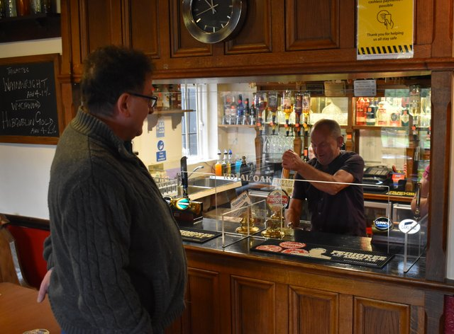 A pint poured at The Royal Oak
