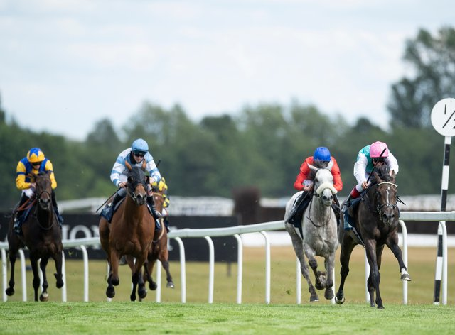 Cabaletta (second right) ran a good race behind Franconia on her reappearance