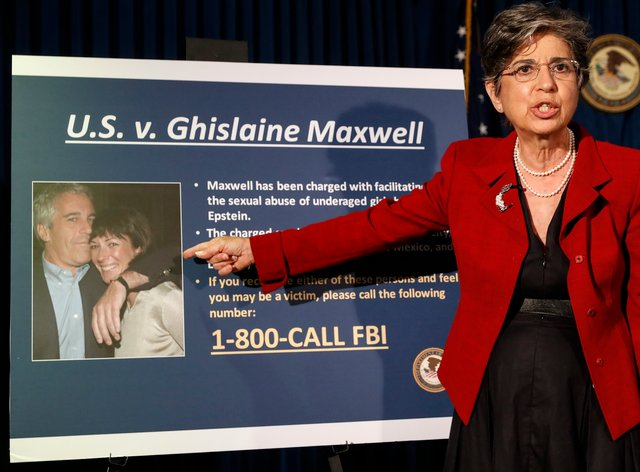 Audrey Strauss, Acting United States Attorney for the Southern District of New York, speaks during a news conference to announce charges against Ghislaine Maxwell