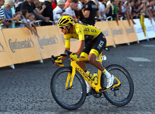 Bernal won his first Tour de France title last year
