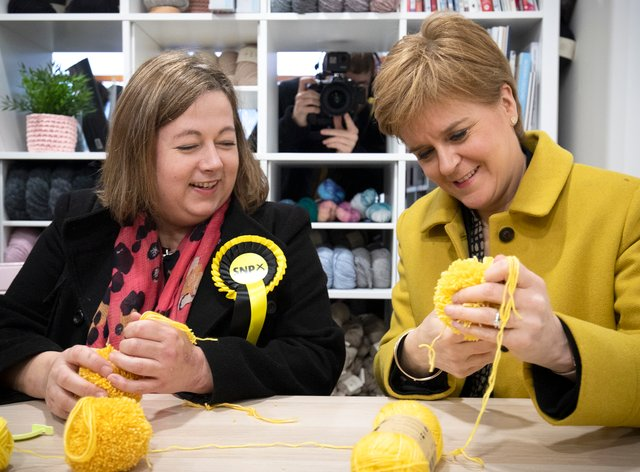 New SNP deputy Westminster leader Kirsten Oswald (left) with party leader Nicola Sturgeon