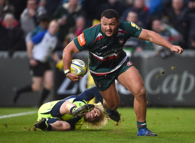 Genge re-signed for Leicester Tigers but BT did not use a picture of him