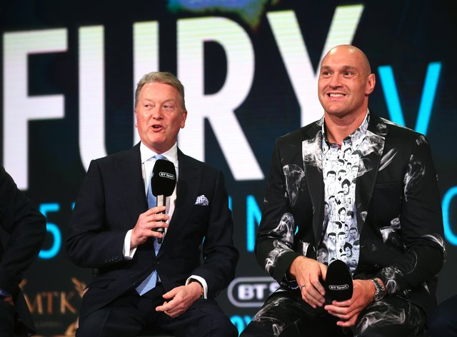 Fury has been promoted by Warren since his return in 2018