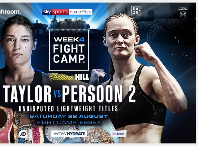 Taylor and Persoon will feature on the August 22 card in Essex