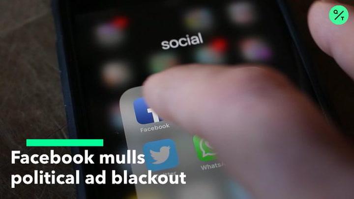 Facbook Mulls Political Ad Halt