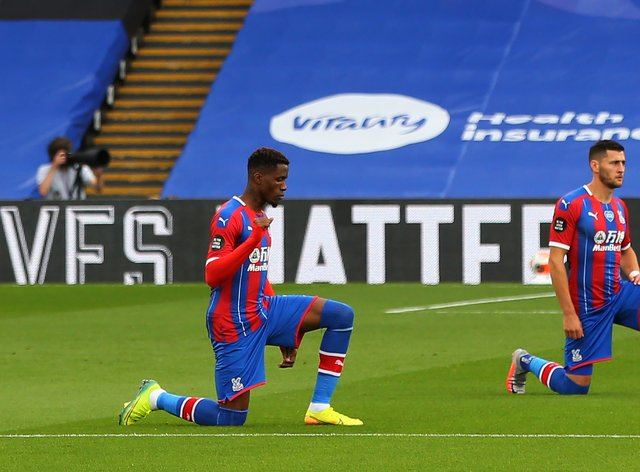 Zaha has  spoken out about the racist messages he and other black players constantly receive