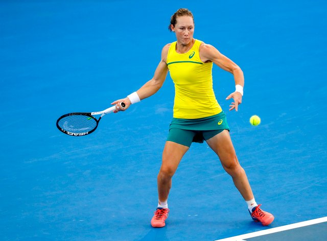 Sam Stosur has revealed she became a mother last month