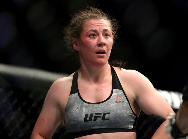 Molly McCann saw her three-fight winning streak in the UFC come to an end (Martin Rickett/PA)