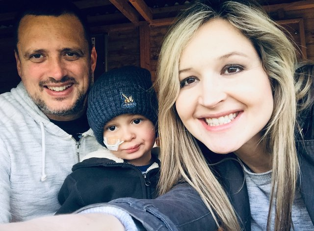 Claire and Michael Scott, with their son Liam