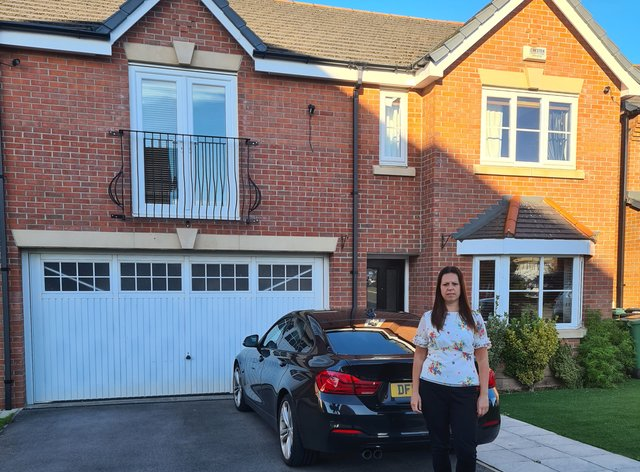 Katie Kendrick and her leasehold home