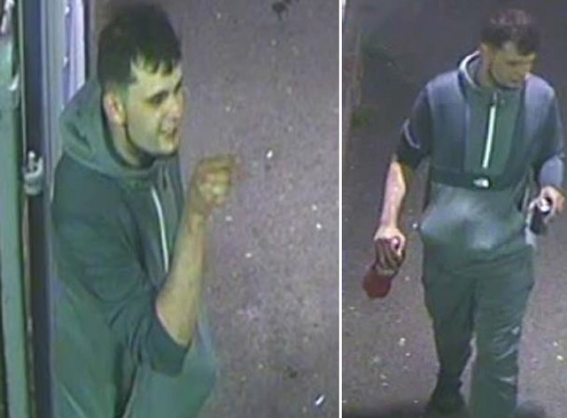 One of three men police would like to speak to after a man was reportedly kicked onto train tracks at Herne Bay railway station in Kent