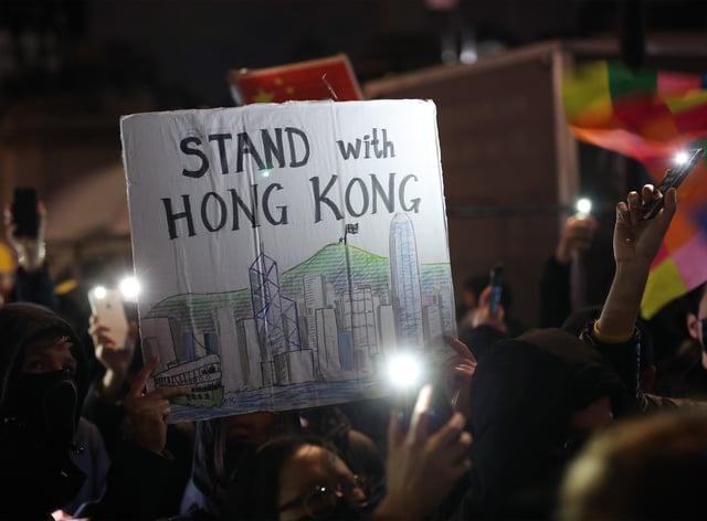 A Hong Kong democracy protest