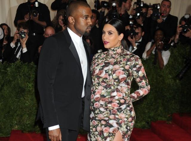 Kanye West and Kim Kardashian (Denis Van Tine/PA)