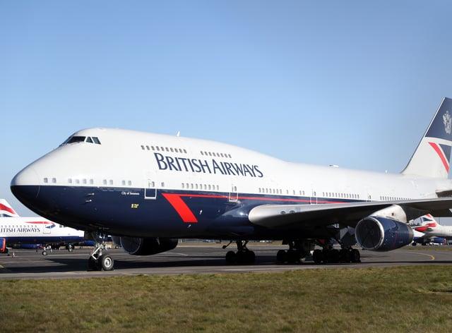 A British Airways Boeing 747 (Andrew Matthews/PA)
