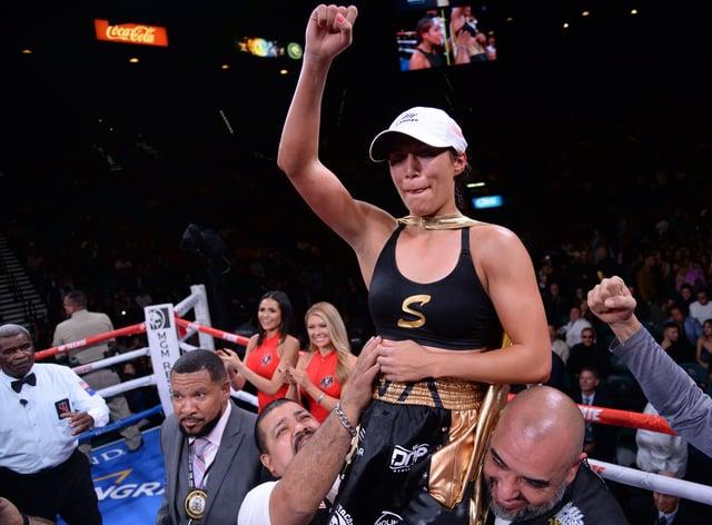 Estrada defeated her opponent in seven seconds