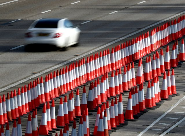 Speed limits past motorway roadworks will be increased to cut journey times and ease drivers' frustrations (Gareth Fuller/PA)