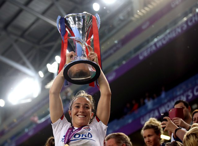 Lucy Bronze's Lyon won the trophy last year