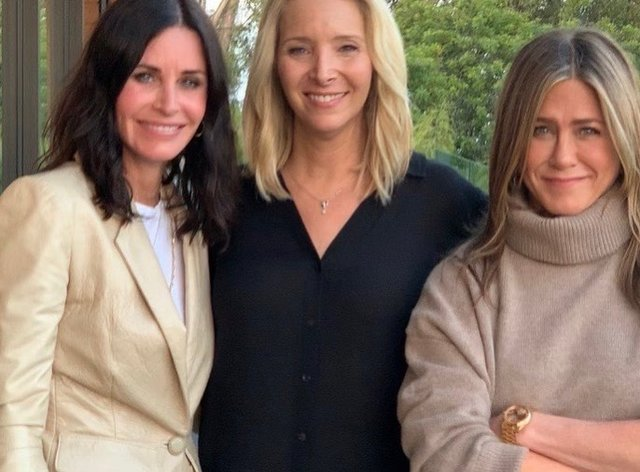 Friends stars came together to encourage fans to vote
