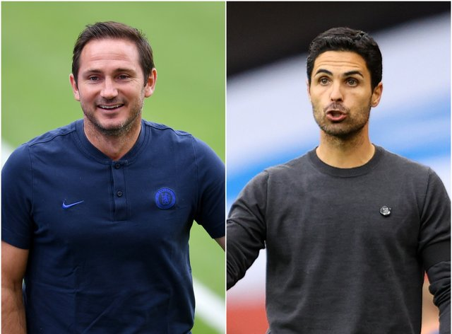 Frank Lampard and Mikel Arteta are bidding to win their first trophies