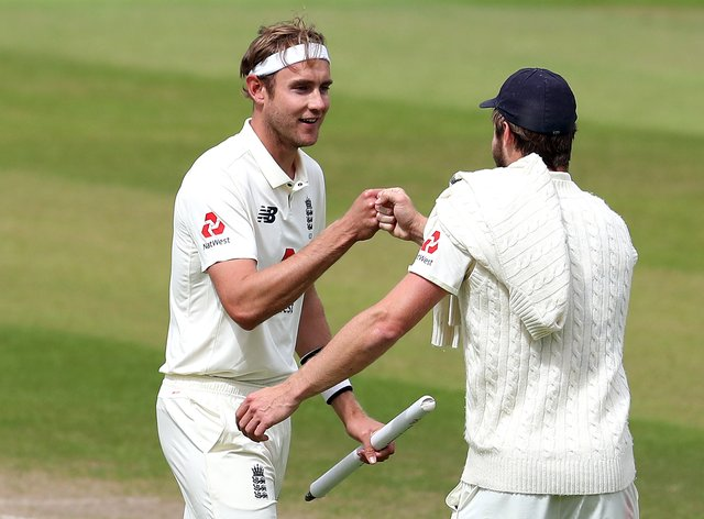 Stuart Broad, left, is the seventh player in history to take 500 Test wickets