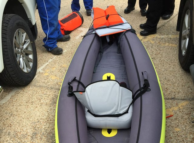 A kayaker has gone missing off Brighton's coast