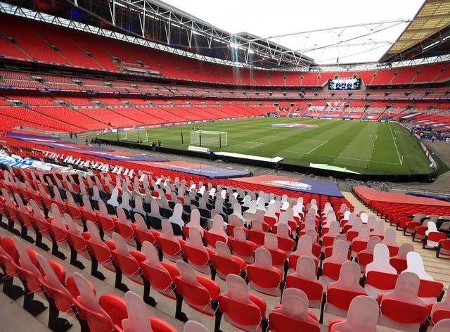 Wembley will remain empty for the Championship Play-Off final