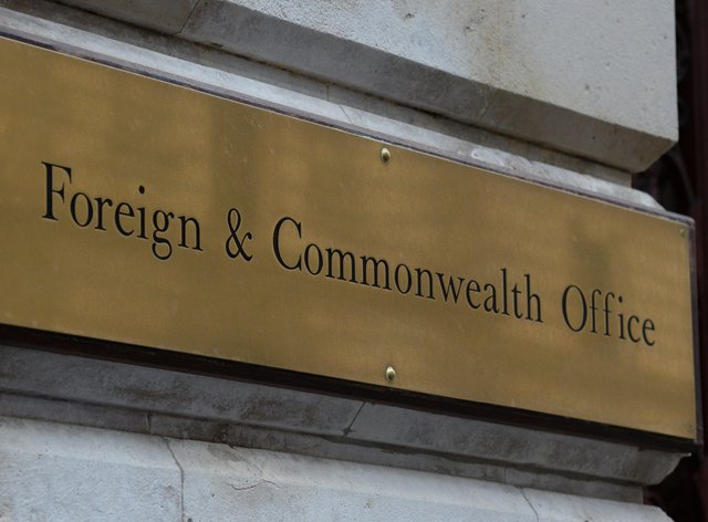 A view of signage for the Foreign & Commonwealth Office (Kirsty O'Connor/PA)