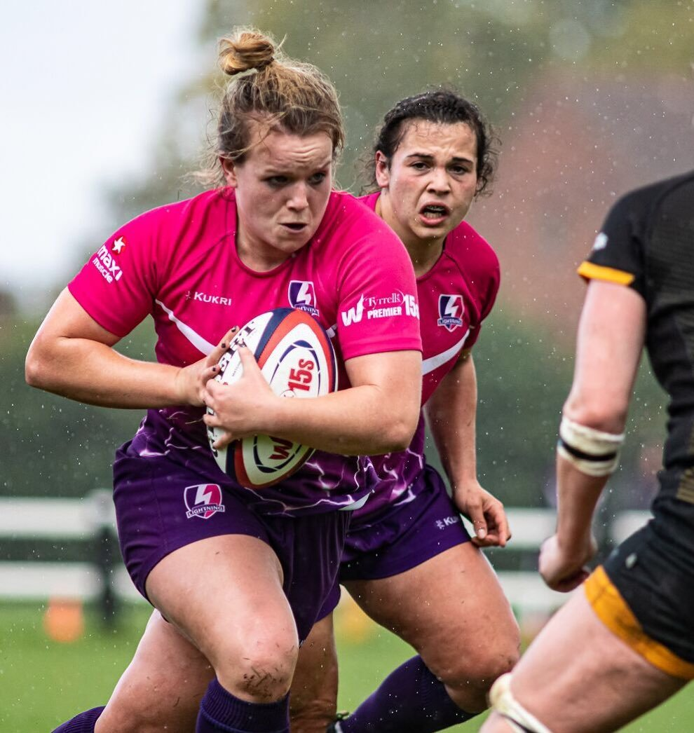 <p>Davies scored one of Loughborough's two tries on Saturday afternoon</p>