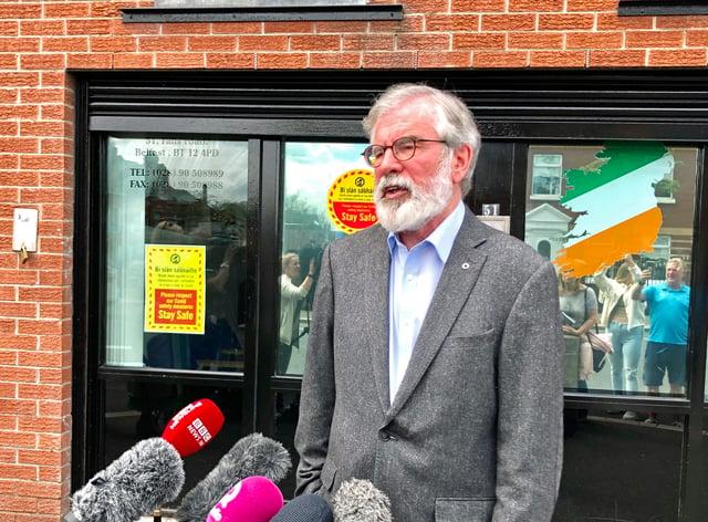 Former Sinn Fein President Gerry Adams reacting to John Hume's death