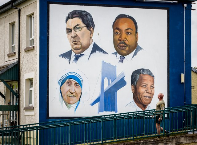 John Hume mural in Londonderry