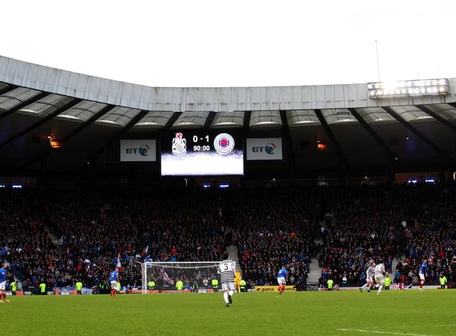 Queen's Park in action against Rangers in 2012
