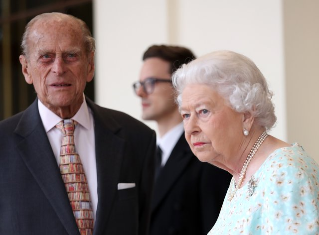 The Duke of Edinburgh with the Queen