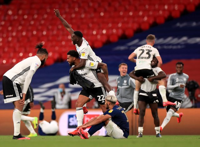 Fulham are celebrating promotion