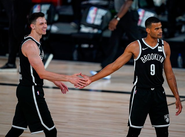 Brooklyn Nets guard Timothe Luwawu-Cabarrot scored late points in the win (Ashley Landis/A