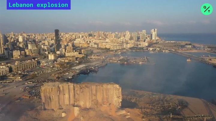 Aerial Footage of Beirut Devastation