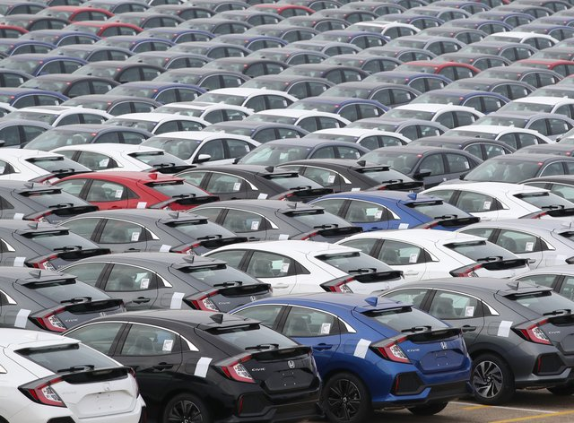 The automotive industry has recorded this year's first monthly increase in sales, following the reopening of dealerships (Andrew Matthews/PA)