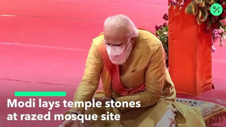 WATCH: Modi Breaks Ground on Hindu Temple That Sparked Deadly Riots