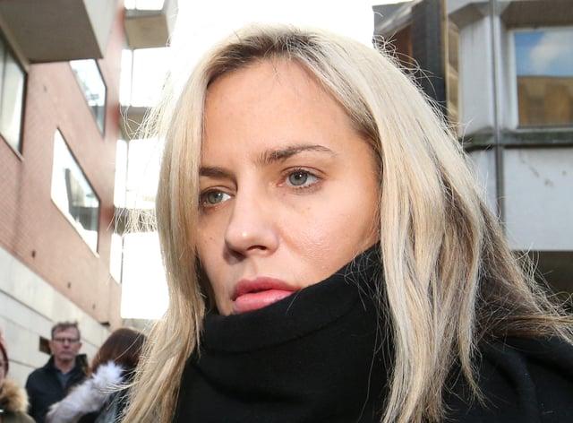 Caroline Flack leaving Highbury Corner Magistrates' Court where she pleaded not guilty to assaulting boyfriend Lewis Burton (Jonathan Brady/PA)