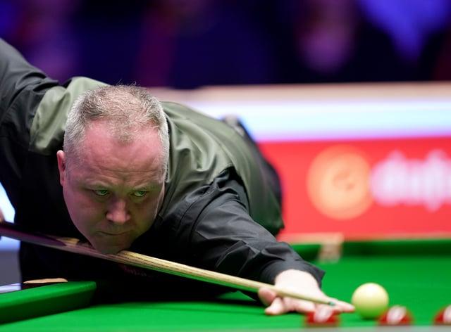 John Higgins, pictured, made a maxiumum 147 break against Kurt Maflin